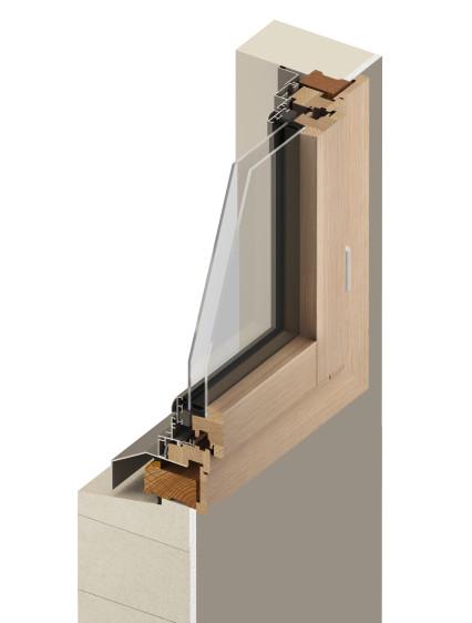 schéma d'un remplacement de fenêtre en rénovation sur dormant existant