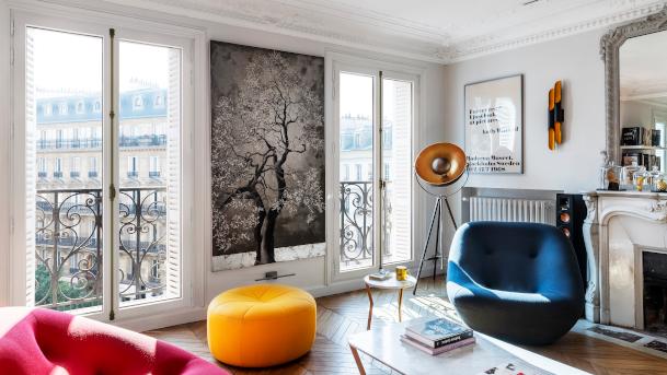 Fenêtre en bois intérieur à Rueil-Malmaison