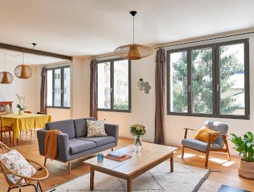 Fenêtres en bois gris anthracite à Colombes