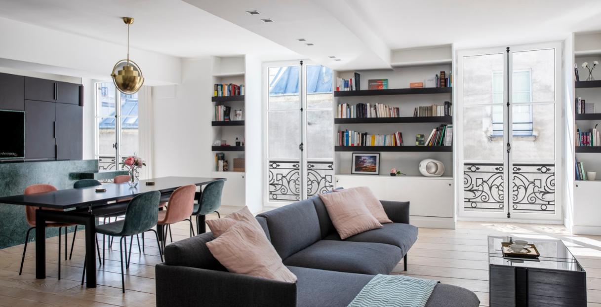 Rénovation de fenêtres eben dans un appartement du Marais